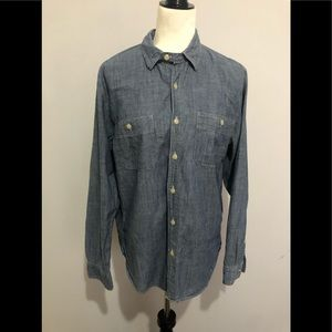 J. crew denim shirt size M bottom down